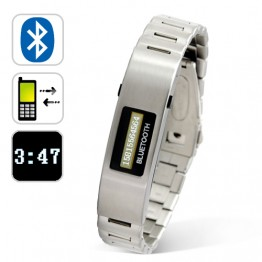Bluetooth Vibrating Braclet with Caller ID Stainless Steel Versi
